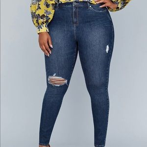 Girl With Curves Stretch High-Rise Skinny Jean